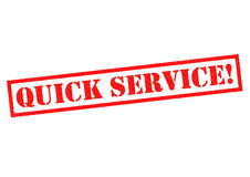 QUICK SERVICE! Stock Images