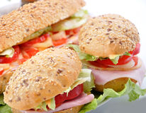 Quick snack - sandwich Royalty Free Stock Photo