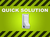 Quick Solution concept Royalty Free Stock Image