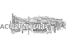 A Quick Start Guide To Acupuncture Word Cloud Royalty Free Stock Photos