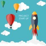 Quick Start Up Flat Concept Vector Illustration Stock Photo