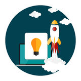 Quick Start Up Flat Concept Vector Illustration Royalty Free Stock Images