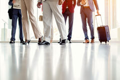 Quick steps of businessmen. Close up of quick steps of businessmen Stock Image
