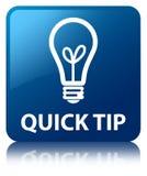 Quick tip (bulb icon) blue square button Stock Photos