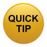 Quick tip golden yellow round button help and suggestion concept. Vector illustration of quick tip golden yellow round button help and suggestion concept on Stock Images