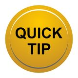 Quick tip golden yellow round button help and suggestion concept. Vector illustration of quick tip golden yellow round button help and suggestion concept on Royalty Free Stock Images