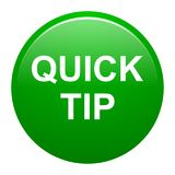 Quick tip green round button help and suggestion concept. Vector illustration of quick tip green round button help and suggestion concept on white background Royalty Free Stock Image