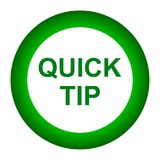 Quick tip green round button help and suggestion concept. Vector illustration of quick tip green round button help and suggestion concept on white background Royalty Free Stock Photography