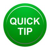 Quick tip green round button help and suggestion concept. Vector illustration of quick tip green round button help and suggestion concept on white background Royalty Free Stock Photo