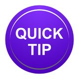 Quick tip purple round button help and suggestion concept. Vector illustration of quick tip purple round button help and suggestion concept on white background Royalty Free Stock Photos