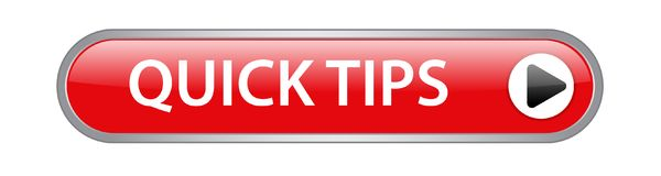 Quick tips button stock illustration