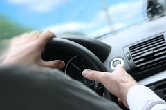 Quick Turn / Driving a Car Royalty Free Stock Image