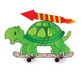 Quick, turtle, vector, illustration Royalty Free Stock Images