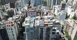 City rooftops in Buenos Aires stock video footage