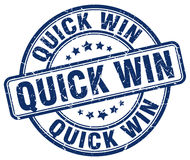 Quick win blue stamp Royalty Free Stock Photos