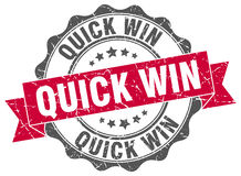 Quick win stamp Stock Photo