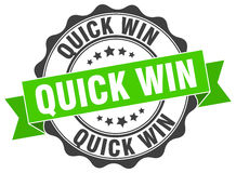 Quick win stamp Royalty Free Stock Photography