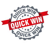 Quick win stamp Stock Image