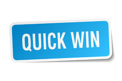 Quick win sticker Stock Image