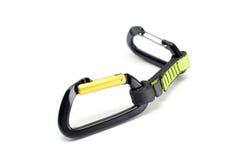 Quickdraw z dwa prostymi bram carabiners zdjęcie royalty free