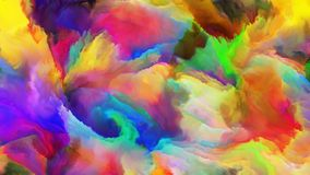 Quickening of Digital Paint Stock Photo
