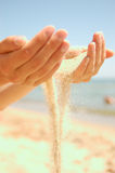 Quicksand. Sand to be strewed from hands Stock Image