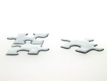 Quicksilver puzzle. Silver puzzle 3D Royalty Free Stock Images