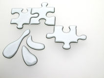 Quicksilver puzzle Stock Image