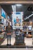 Quicksilver shop at Fashion Island, Bangkok, Thailand, Mar 22, 2. 018 : Surf clothing and Snowboard outwear. Fashionable brand window display and interior Royalty Free Stock Photos