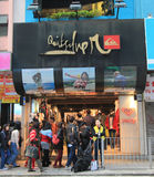 Quicksilver shop in hong kong. Quicksilver shop, located in Tsim Sha Tsui, Hong Kong. quicksilver shop is a clothes retailer in Hong Kong Royalty Free Stock Photos