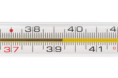 Quicksilver thermometer Stock Photography