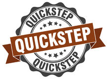 Quickstep stamp. Quickstep brown stamp. sign. seal Stock Image