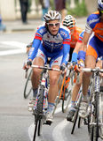 Quicksteps Radfahrer belgisches Julien Vermote Lizenzfreie Stockbilder
