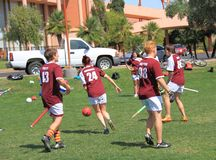 USA, AZ: Rare Sport - Quidditch > Five Wizards Royalty Free Stock Images