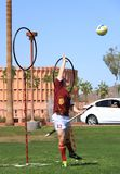USA, AZ: Rare Sport - Quidditch > Keeper Catching  Royalty Free Stock Photos