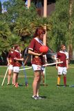 USA, AZ: Rare Sport - Quidditch > Chaser with Ball Stock Photo