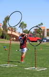 USA, AZ: Rare Sport - Quidditch >Frustrated Keeper. More ´Quidditch` photos in my portfolio! Quidditch is a fictional competitive sport in the wizarding world royalty free stock photo