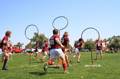 USA, AZ: Rare Sport - Quidditch > Protecting Goals Royalty Free Stock Image