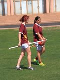 USA, AZ: Rare Sport - Quidditch > Two witches? Royalty Free Stock Photo