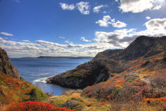 Quidi Vidi Cove Newfoundland. The beautiful fall scene at Quiddi Viddi (or Quidi Vidi) Cove in St. Johns, Newfoundland stock photos