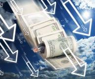 Quiebra financiera Imágenes de archivo libres de regalías