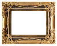 Quiera el marco del oro Foto de archivo libre de regalías