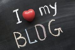 Quiera mi blog Imágenes de archivo libres de regalías
