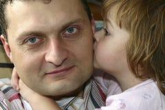 Quiero al papá Foto de archivo