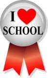Quiero el botón/EPS de la escuela Fotos de archivo
