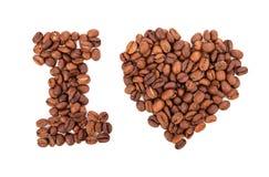 Quiero el café Concepto del alimento imagen de archivo