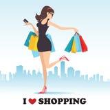 Quiero el hacer compras Imagen de archivo