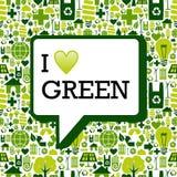 Quiero el mensaje verde sobre textura del fondo de los iconos Foto de archivo libre de regalías