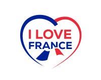 Quiero Francia stock de ilustración