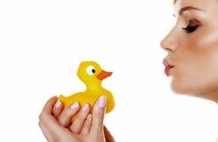 Quiero mi ducky. Foto de archivo